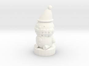 Santa Claus in White Processed Versatile Plastic: Medium