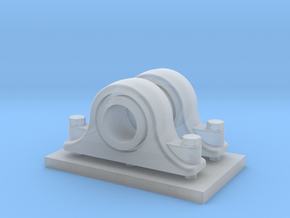 Scale Pillow Blocks with 10mm Hole in Smooth Fine Detail Plastic
