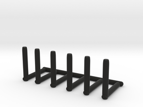 Cup holders (six in a row) in Black Natural Versatile Plastic
