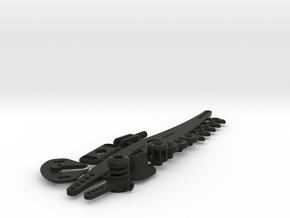 MM boat parts set without servoplate in Black Natural Versatile Plastic