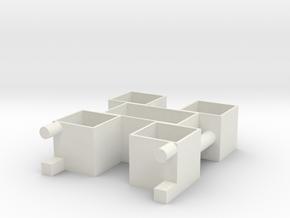 bookcase in White Natural Versatile Plastic: Small
