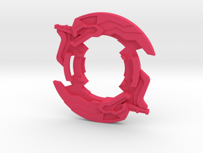 Beyblade Unicolyon Attack Ring by Zera in Pink Processed Versatile Plastic