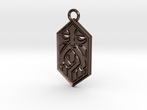 Dwarven Sigil in Polished Bronze Steel