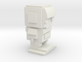 Leego Iron Man Brick Head in White Natural Versatile Plastic