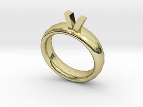 Golden Bull Ring in 18k Gold Plated Brass