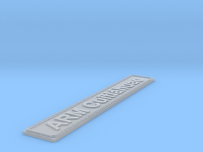 Nameplate ARM Cuitláhuac in Smoothest Fine Detail Plastic
