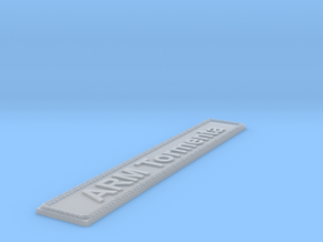 Nameplate ARM Tormenta in Smoothest Fine Detail Plastic