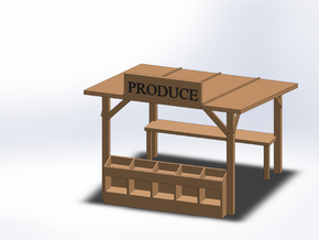 PRODUCE STAND in Smooth Fine Detail Plastic