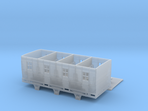 BROAD - 6 Wheel Coach - FLAT Roof in Smooth Fine Detail Plastic
