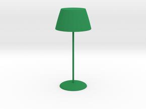 Ordinary table lamp in Green Processed Versatile Plastic: Medium