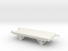 SR Flatcar Posts in White Natural Versatile Plastic
