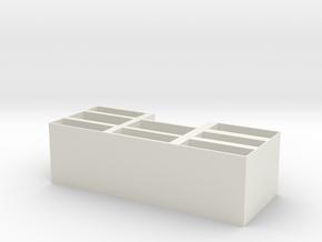 Card holder in White Natural Versatile Plastic: Small