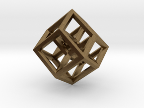 Hypercube Pendant in Natural Bronze