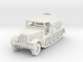 Sdkfz 7/3 Feuerleitpanzer 1/87 in White Natural Versatile Plastic