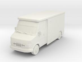 Mercedes Armored Truck 1/56 in White Natural Versatile Plastic