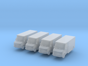 Mercedes Armored Truck (x4) 1/400 in Smooth Fine Detail Plastic