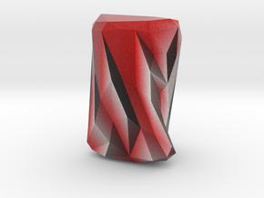 Small Geometric Vase in Full Color Sandstone