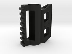Paintball Barrel Picatinny And Dovetail Dual Rail in Black Natural Versatile Plastic