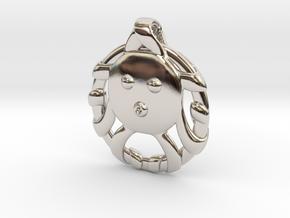 Cute Octopus Pendant in Platinum