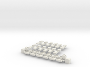 U-Bahn Wien Dachlüfterset Silberpfeil in White Natural Versatile Plastic