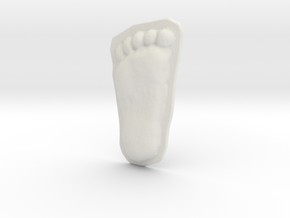 Bigfoot Footprint Cast 1/3 Scale in White Natural Versatile Plastic