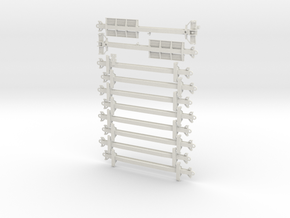 N Scale Fuel Foiler with A-Stack Pedestals in White Natural Versatile Plastic