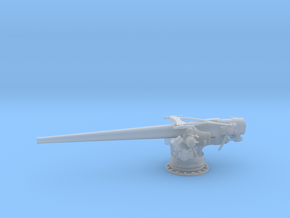 1/56 USN 5 inch 51 Cal. Deck Gun in Smooth Fine Detail Plastic