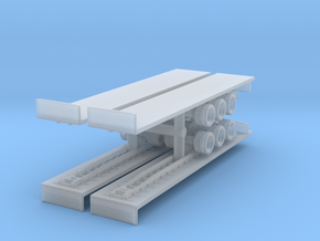 Flatbed Trailer (x4) 1/500 in Smooth Fine Detail Plastic