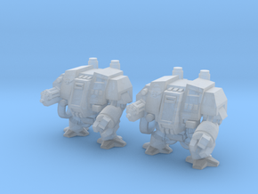 Dreadnought 2 set Epic infantry miniature 6mm mech in Smooth Fine Detail Plastic