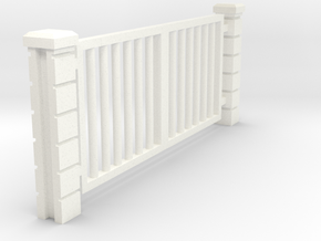 Rod Iron Vehicle Gate - (32nd Scale) in White Processed Versatile Plastic: 1:32