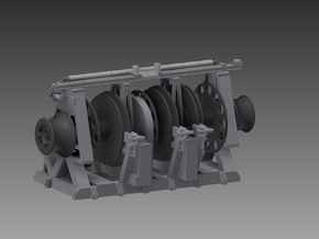 Hunt Class Minesweeper Winch 1/72 in Smooth Fine Detail Plastic