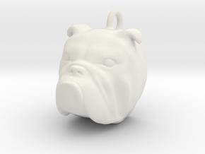 bulldog head 2101051634 in White Natural Versatile Plastic