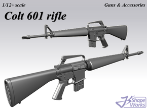 1/9 Colt 601 rifle in Smoothest Fine Detail Plastic