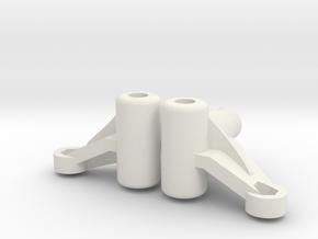 Tamiya Wild Willie M38 Knuckle (pair) in White Natural Versatile Plastic