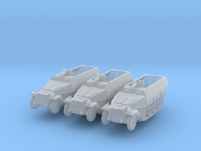 Sdkfz 251/3 D Radio (x3) 1/220 in Smooth Fine Detail Plastic