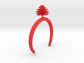Dhalia bracelet with one medium flower in Red Processed Versatile Plastic: Medium