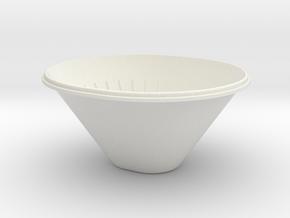 Cone-large in White Natural Versatile Plastic