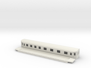 BCo9 - Swedish passenger wagon in White Natural Versatile Plastic