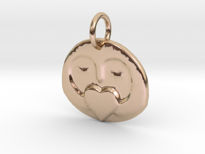 Penguin Mu in 14k Rose Gold Plated Brass: Small