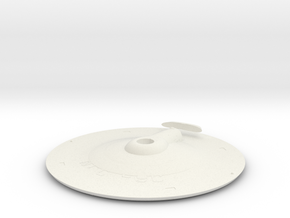 1000 TOS saucer v3 top in White Natural Versatile Plastic