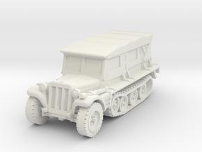 Sdkfz 10 B (covered) 1/72 in White Natural Versatile Plastic