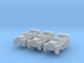 Sdkfz 10 B (open) (x3) 1/220 in Smooth Fine Detail Plastic