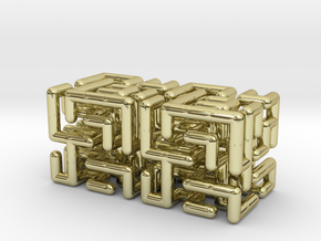 Maze earrings in 18k Gold Plated Brass