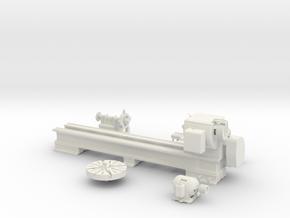 "Large 30""x 13' Springfield Wheel Lathe  in White Natural Versatile Plastic: 1:20"