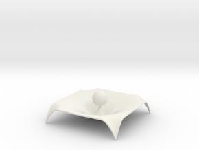 Gravity Single Body in White Natural Versatile Plastic
