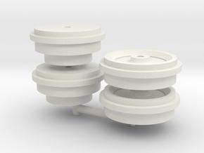 Liebherr HS88xHD- sprocket+idler for Conrad tracks in White Natural Versatile Plastic