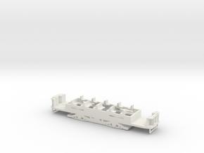 N1 Fahrgestell für Hallingmotor/Souvenierräder in White Natural Versatile Plastic