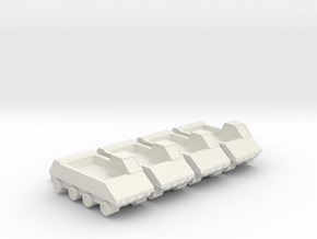 285 Scale Lyran Armored Personnel Vehicles (APVs) in White Natural Versatile Plastic