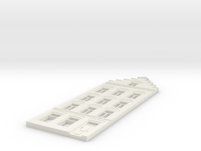 Gevel schaal N model 2 in White Natural Versatile Plastic