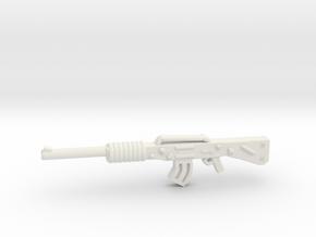 Assault Rifle m16 in White Natural Versatile Plastic